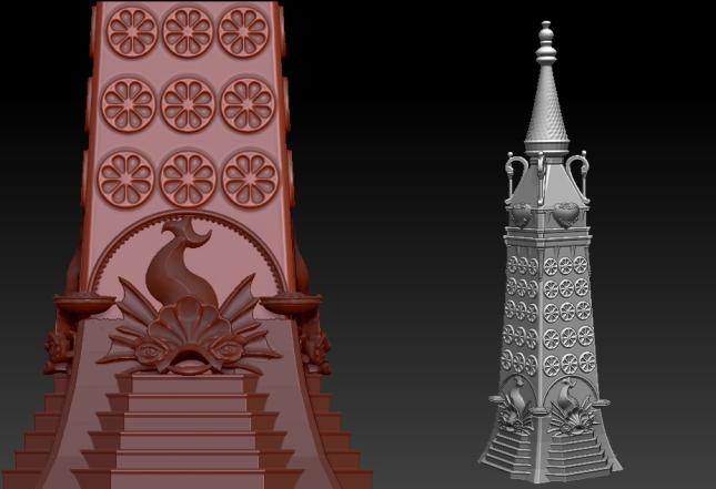 Progress on Modeling the Luna Park Tower