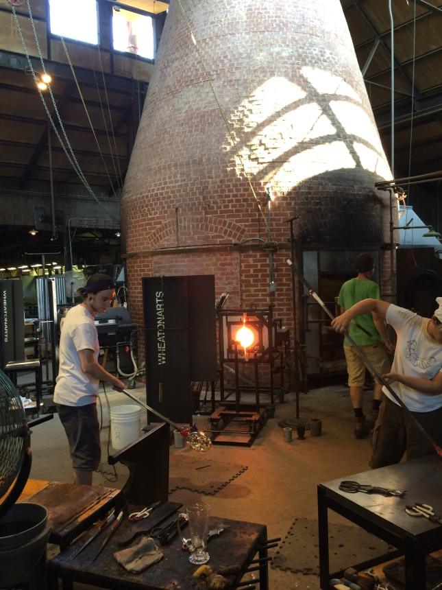 The Studio is a recreation of an 1880's Glass facotory and hosts world acclaimed artists coming to realize their work in glass.