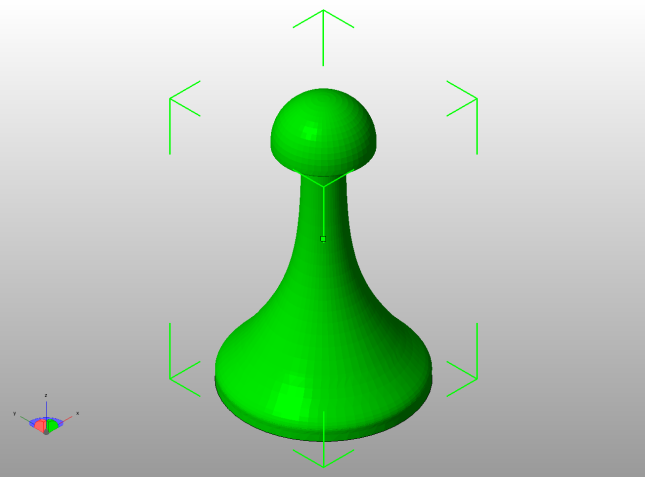 I chose this Duchamp Chess Set Pawn (http://www.thingiverse.com/thing:305639) as a simple form to test how PLA prints will fare burning out of plaster molds.