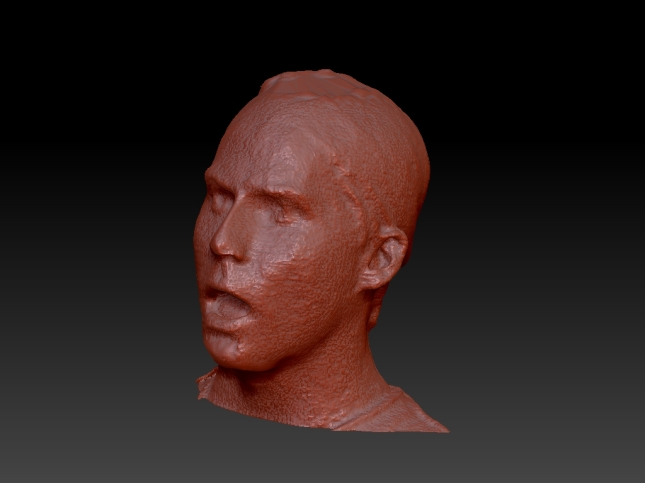 We began by creating a 3D scan of the actor's head