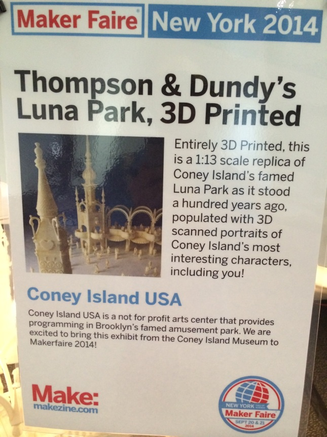 It was nice to get Coney Island USA and the Coney Island Museum some props at Makerfaire too!