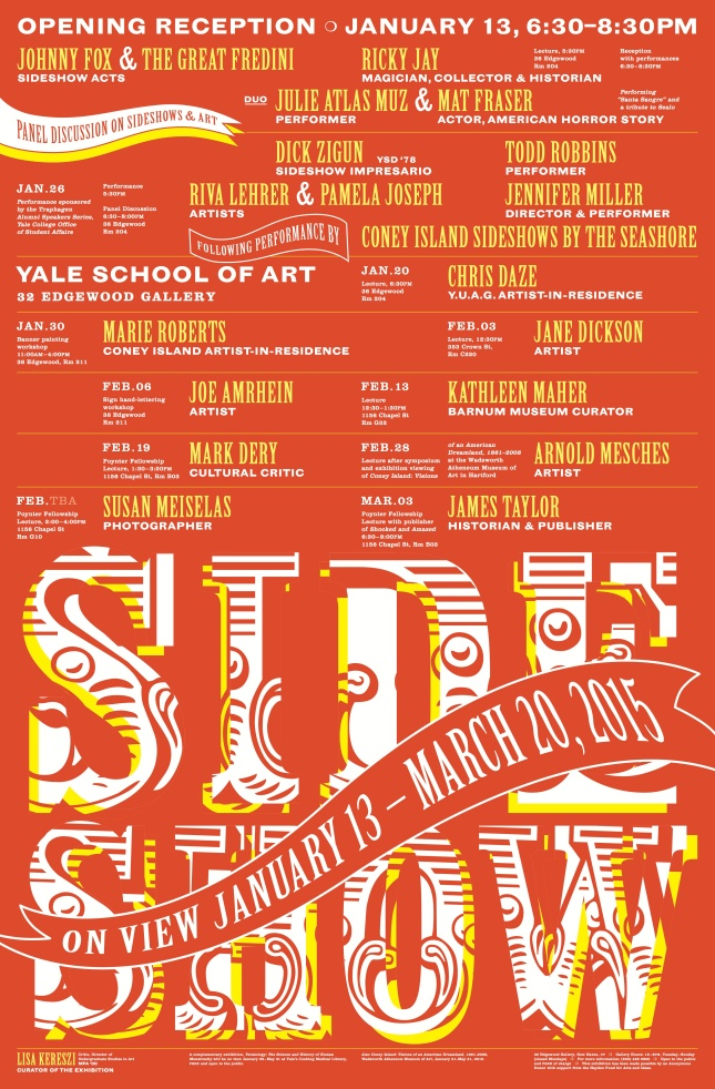 Side Show at Yale University Galleries Open January 13
