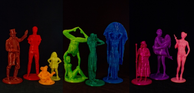 Left to Right James Taylor, Mat Fraser, Velvet Crayon, Firefly, Heather Holiday and Danik, Leo the Human Gumby, Francine the Lucid Dream, Natty the Patchwork Girl, Trixie Little and the Evil Hate Monkey, Betty Bloomers