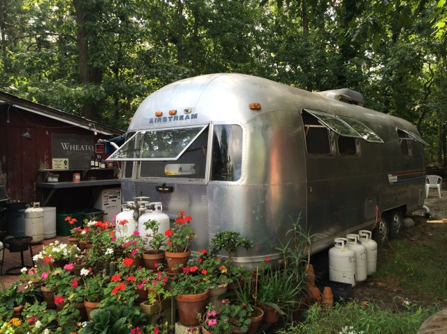 While at Wheaton, I got to stay in this lovely vintage Airstream Trailer!