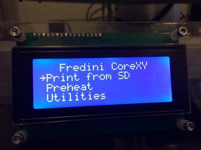 The personalized LCD was a joy to see!