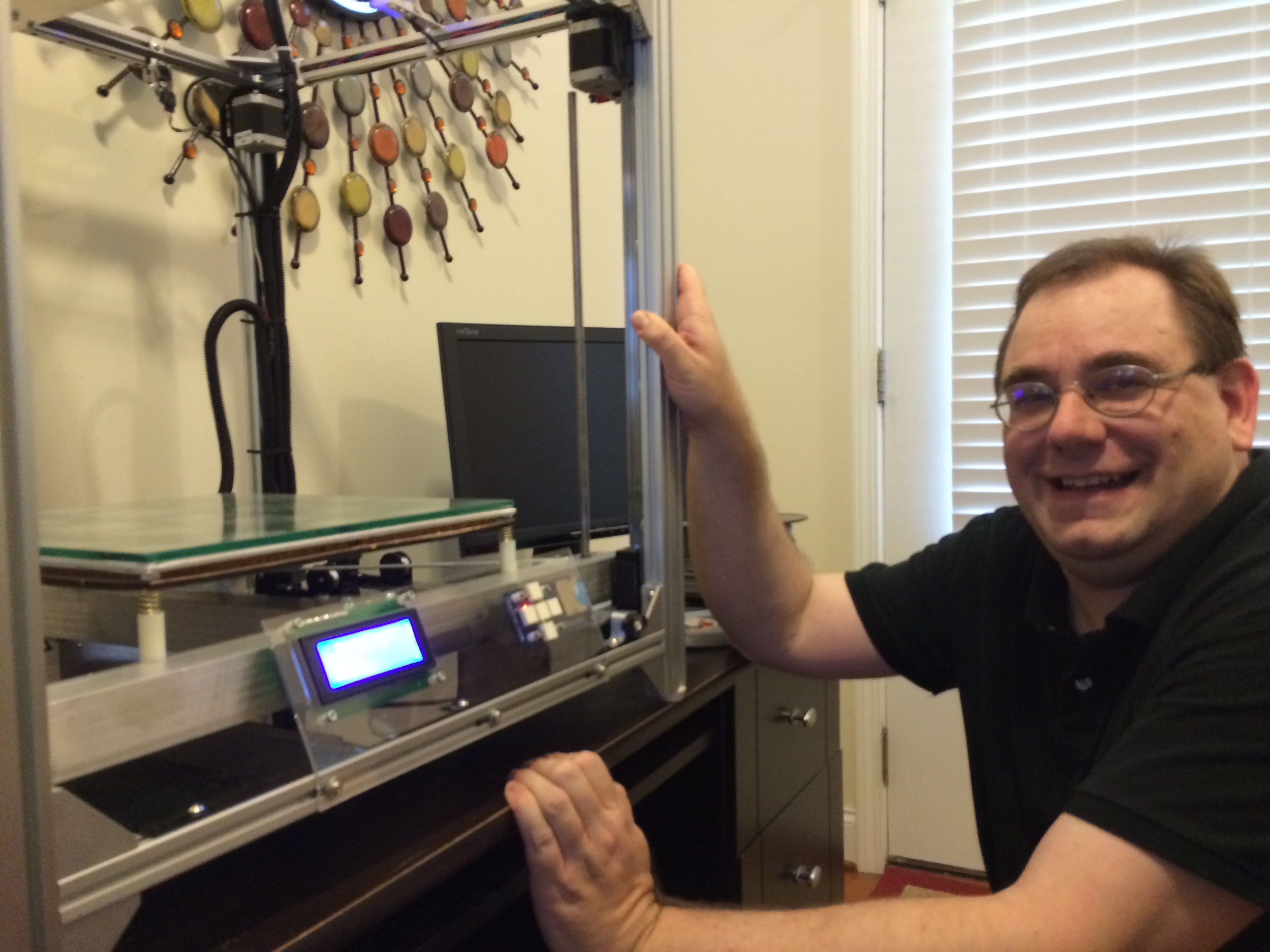 Maker profile the maestro of 3d printer building jetguy for 3d printing kitchen cabinets