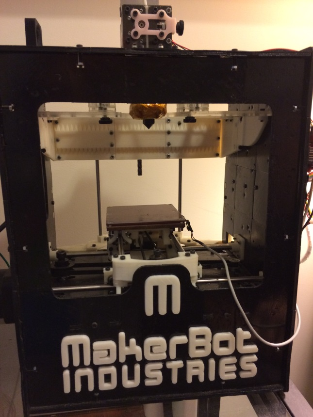 The Maker Guy's fully 3D Printed Makerbot Cupcake