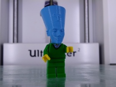 Nefertiti Minifig head by Ozar http://www.thingiverse.com/thing:1396008