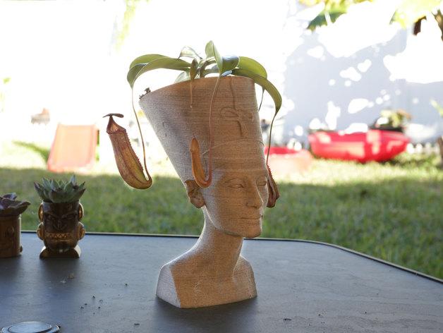 Nefertiti Vase http://www.thingiverse.com/thing:1372787