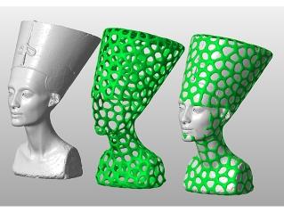 Voronoi Nefertiti http://www.thingiverse.com/thing:1377950